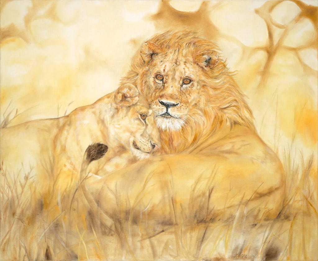 Löwenpärchen (Auftragsbild)